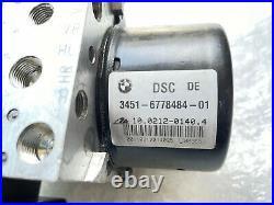 BMW 3 Series ABS DSC Pump ECU Unit 3451-6778484-01 10.0212-0140.4 1078