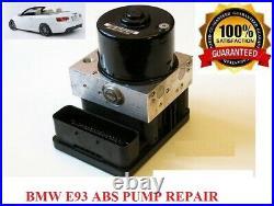 BMW E93 ABS DSC PUMP REPAIR SERVICE BMW HYDRO UNIT Fault Code 5DF0 5DF1