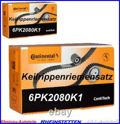 CONTI 6PK2080K1 Keilrippenriemensatz BMW 3 E46 5 E60 E61 6 E63 7 X3 E83 X5 E53