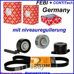 CONTI 6PK2160+4PK850ELA Keilrippenriemensatz+CONTI WAPU 5 E60 E61 7 E65 E66 E67